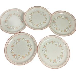 Chantilly Hand Decorated Stoneware Diner Plates